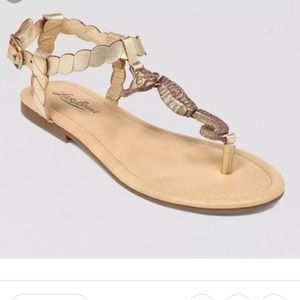 NEW Lucky Brand seahorse sandals